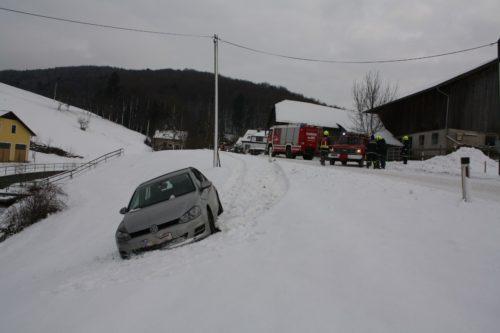 Fahrzeugbergung in Aigelsbach am 16.01.2017