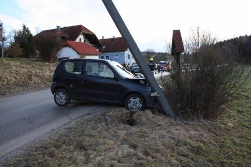 Verkehrsunfall in Grünsbach am 24.02.2017
