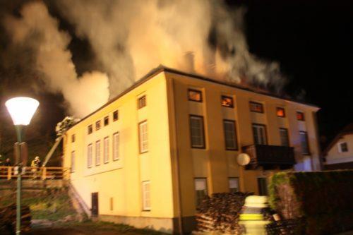 Dachstuhlbrand in Kirchberg am 24.03.2017