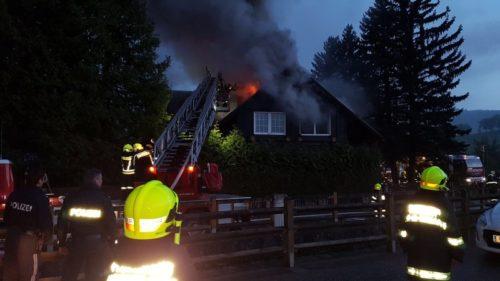 Dachstuhlbrand in Rabenstein, 04.05.2017