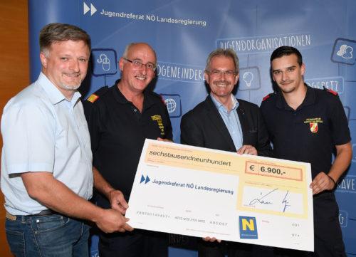 Förderung vom Land NÖ an die Feuerwehrjugend Hofstetten-Grünau