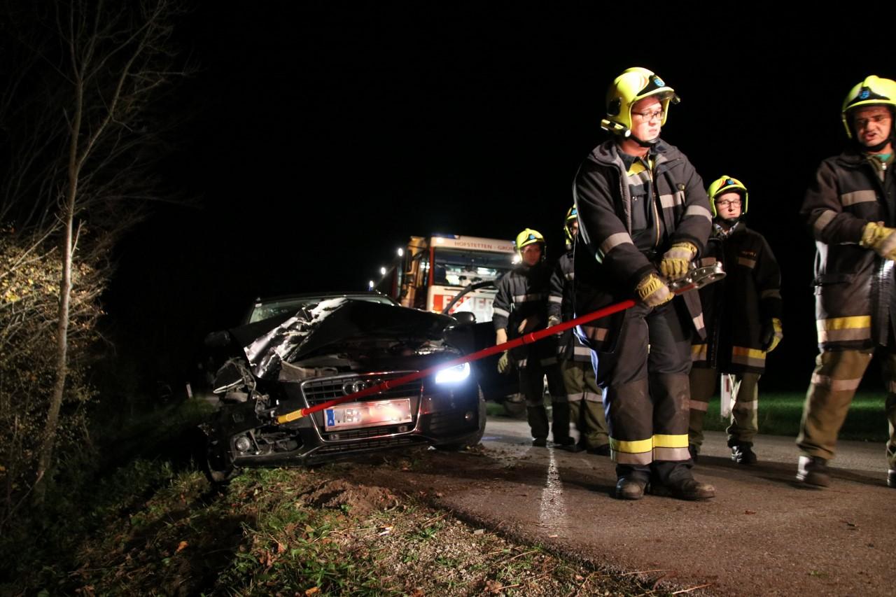 Fahrzeugbergung in Grünsbach am 01.11.2017